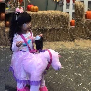 Unicorn ride on costume 3t- 4t